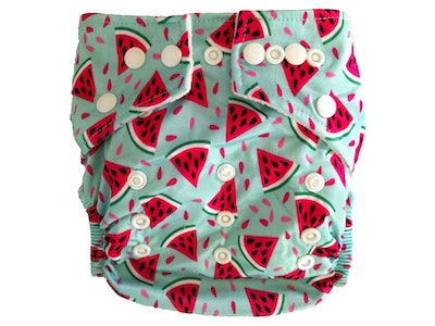 Hippybottomus Stay Dry Bamboo Cloth Nappy - Watermelon