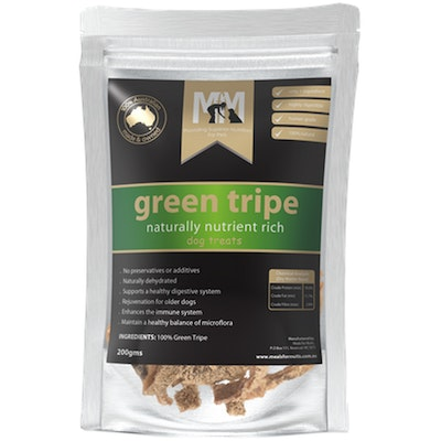 MEALS FOR MUTTS MFM Dogs Green Tripe Naturally Nutrient Rich Treats 200g