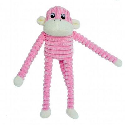 Zippy Paws Spencer Crinkle Monkey Plush Dog Squeaker Toy - 2 Colours
