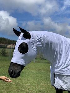 Diamond Deluxe Horsewear Summer Stretch Zip Hoods - White