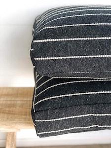 Floor Cushion Cover - Onyx Stripe