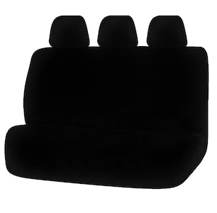 Universal Finesse Faux Fur Rear Seat Cover Size 06/08H | Black