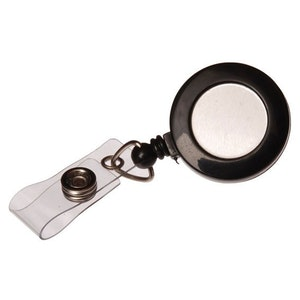 Kevron clip on retractable cord reels for ID cards, proximity cards & keys, pack of 10