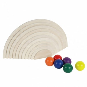 Jenjo Natural Semi-Circles & Rainbow Balls