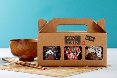 Cooking with Koji Organic miso trio - Basic (Gluten free / Vegan)