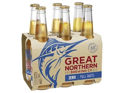 Great Northern Zero Bottle 330mL 6 Pack