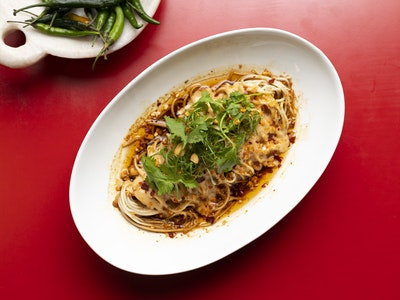 Sesame and Peanut chilled Sichuan Noodle