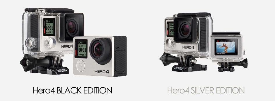 gopro hero4 silver black edition