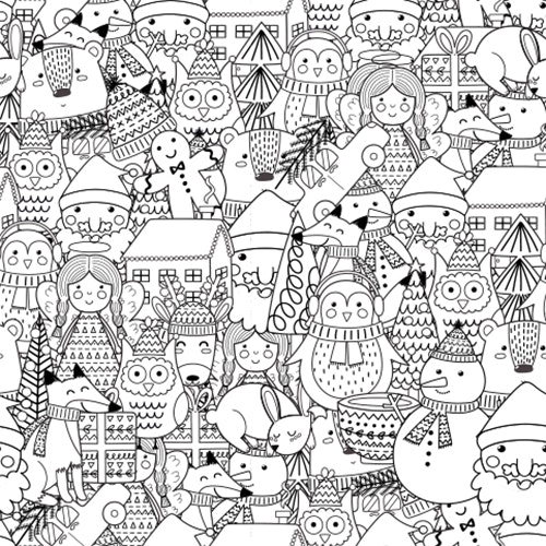 Christmas Holidays - Free Colouring-in Sheet