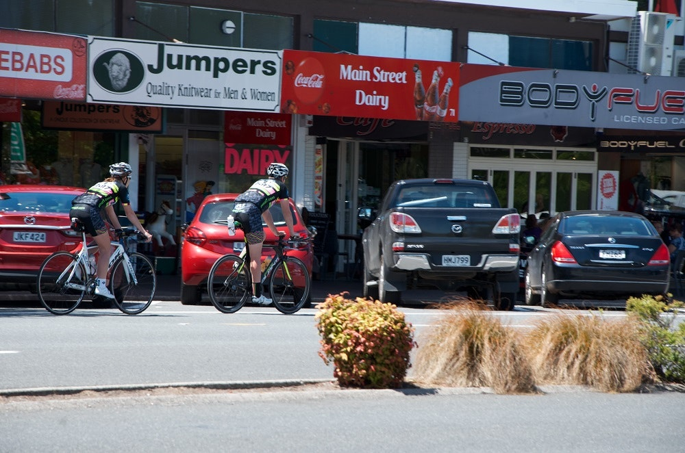 cyclists in taupo for the Lake Taupo Cycle Challenge