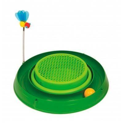 Warragul Pet Emporium Catit Play 3 In 1 Circuit Ball Toy W Cat Grass Pad