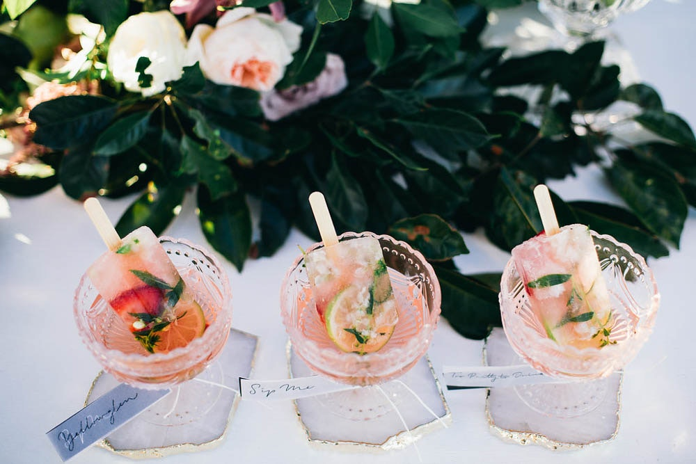 Boho Wedding Champagne Popsicle Cocktail LENZO