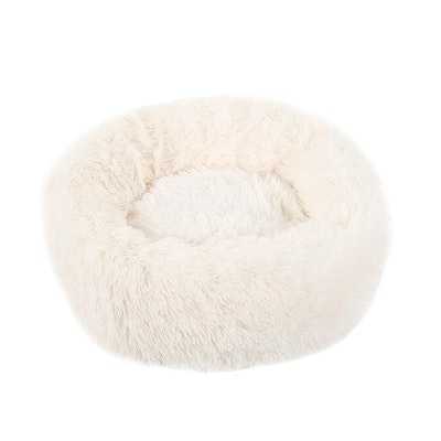 House of Pets Delight Soothing Calming Donut Pet Bed in White