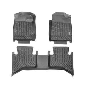3D Floor Mats Fit Isuzu Dmax Dual Cab 2012 2020 My19