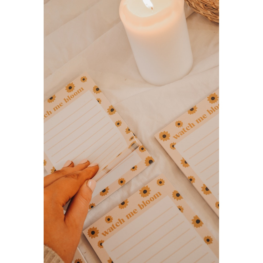 Brew Norfolk watch me bloom - a6 to do list pad
