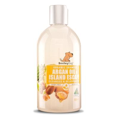 Smiley Dog Organic Extract Argan Oil & Island Escape Shampoo