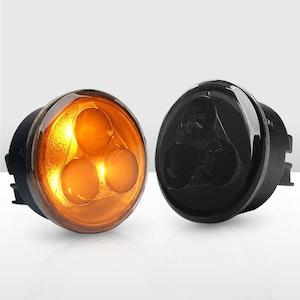 Pair LED Turn Signal Light Smoke Lens for Jeep Wrangler JK 2007-2017 OEM