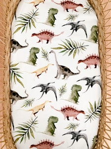 Grubbee Dinosaur Fitted Cot Sheet