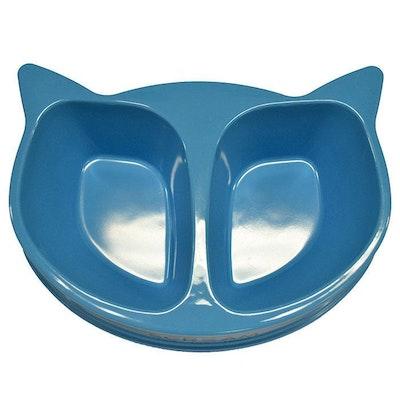 ScreamPet Scream Cat Face Heavy Duty Plastic Pet Double Bowl 350ml - 4 Colours