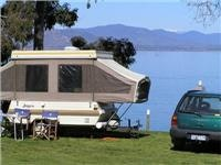 Camper with an amazing view Lake, Hume, GoSeeAustralia pic