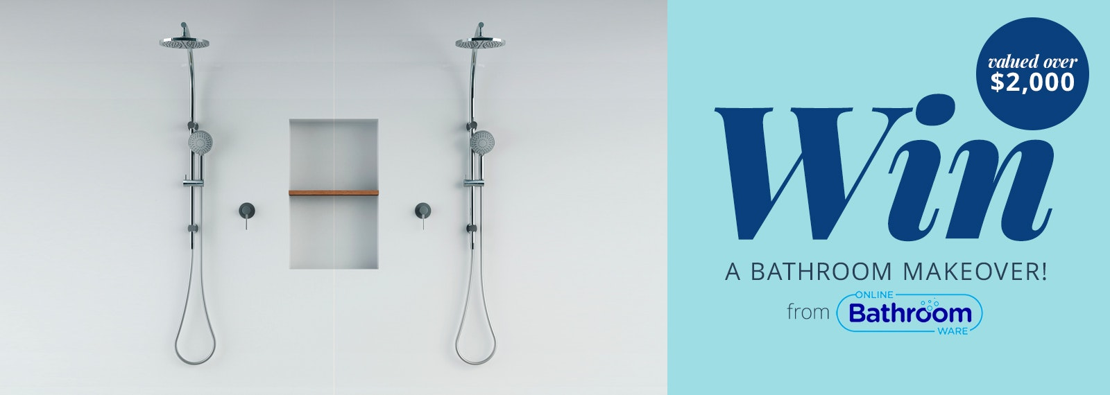 Win a bathroom valued at over $2,000 from Online Bathroomware