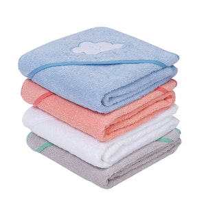 ClevaMama Soft Cotton Apron Baby Bath Towel