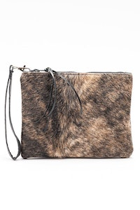 Hitchley & Harrow Hide & Leather Clutch #626