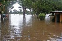 Bellinger River Tourist Park under one of three 1 in 100 year floods
