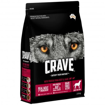 CRAVE Adult Beef & Lamb Dry Dog Food 2.8kg