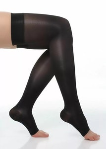 Thigh High Compression Stockings Open toe Class 1 (15-20mmhg)