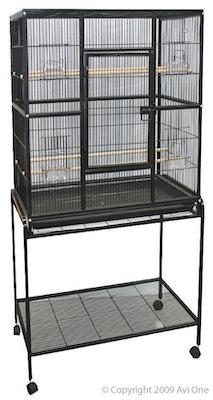 Cage 604 Square Black 82cm x 46cm x 152cm Avi One