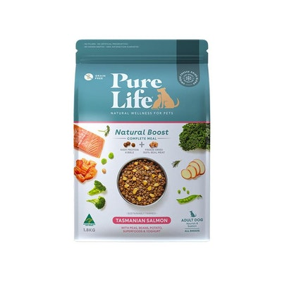 PURE LIFE Natural Boost Salmon Dry Dog Food 1.8KG