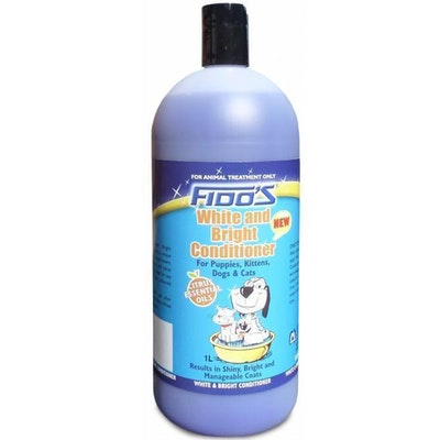 Fidos White & Bright Conditioner Grooming Aid for Dogs & Cats - 3 Sizes