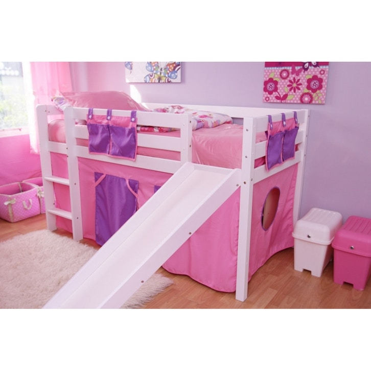 Kids furniture fdo bella mid sleeper bunk bed w slide for 3 bed bunk beds for sale