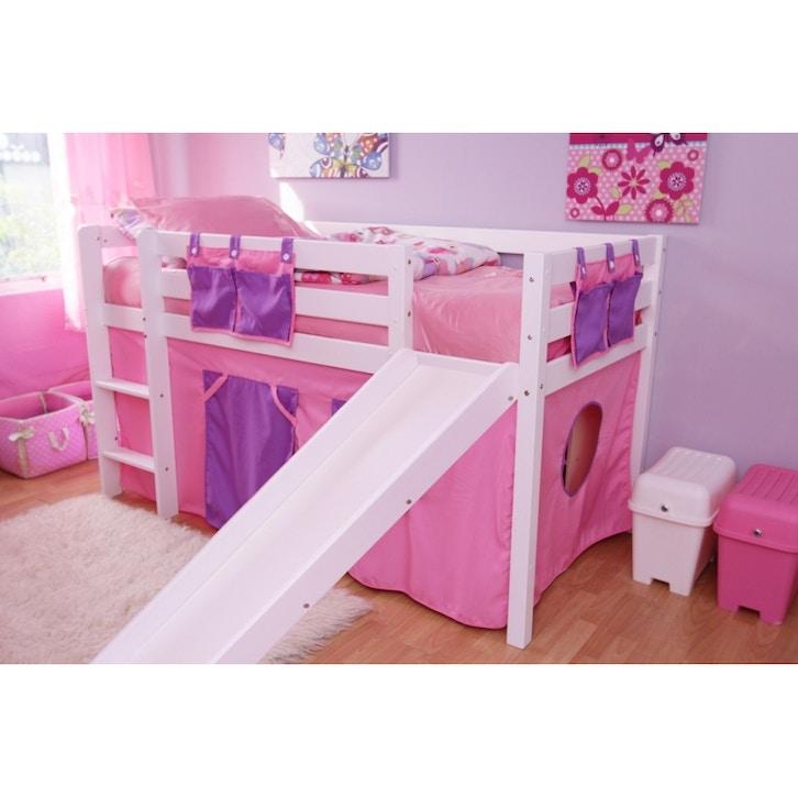 Kids Furniture FDO Bella Mid Sleeper Bunk Bed Wslide