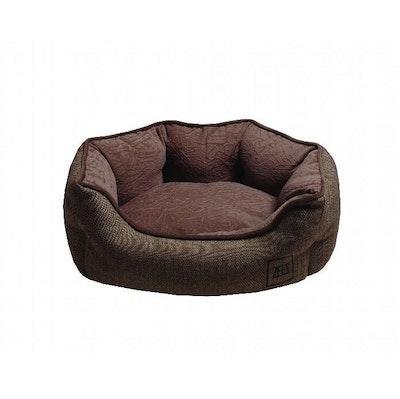 Zeez Oval Cuddler Non-Slip Base Dog Bed Brown - 3 Sizes