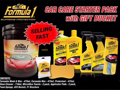 Formula1 Car care starter pack with bucket