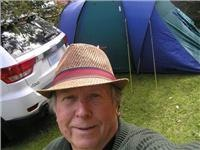 Selfie shot -GSA Editor Garth Morrison with GSA1 Jeep and Trek Duo tent  004
