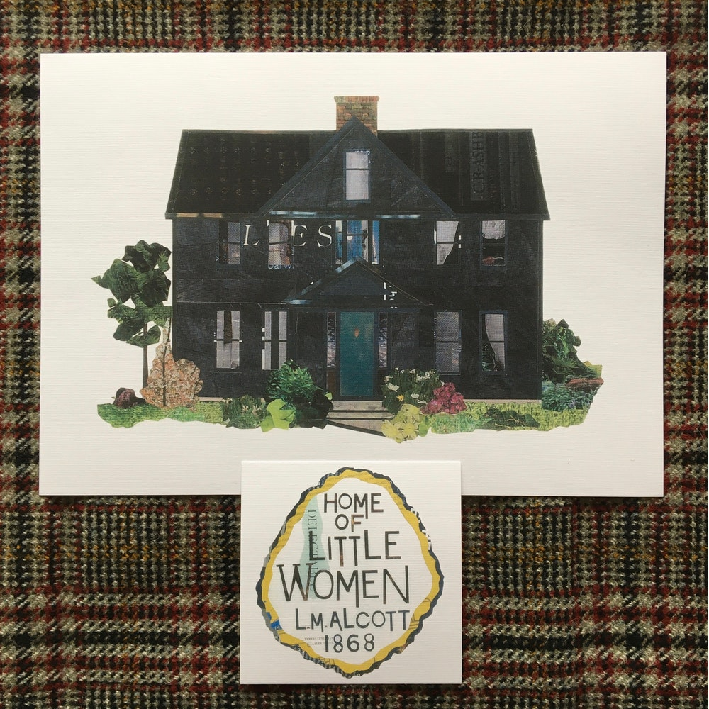 Soodle Street Illustrations Orchard House, The Home Of Little Women Print And Plaque