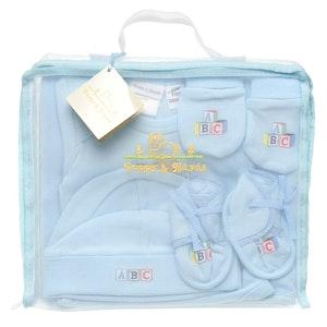 Babyhood Poppy Hydes Infants Knitted Blanket, Bodysuit, Hat, Mittens & Shoes 5 Pk