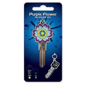 Creative Keys 3D Art – Purple Flower LW4