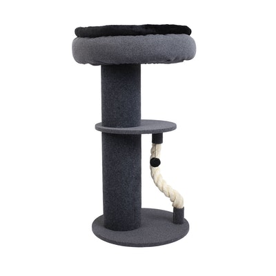 Charlie's Higher Cat Tree Scratching Tower with Snuggle Bed Dark Grey & Black