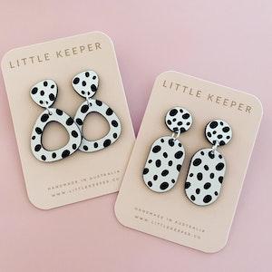Pebble Print Drop Earrings