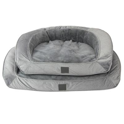 T&S Portsea Lounge Grey Plush