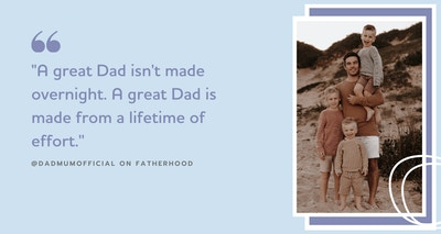Celebrating Father's Day with Brad Kearns from @dadmumofficial