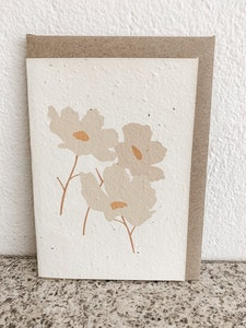 WHITE FLORAL | SEEDED CARD