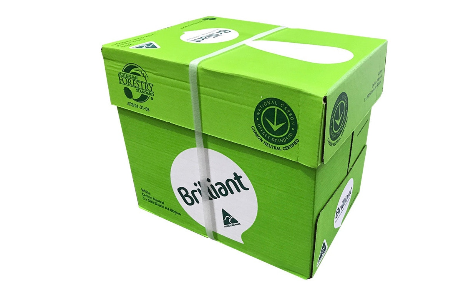 Brilliant A4 1 Carton 5 Reams 80gsm 500 Sheet Copy Paper A4 Paper By Cartridge World Australia