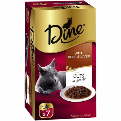 Dine Daily Variety Beef & Liver Cuts In Gravy Wet Cat Food Tray