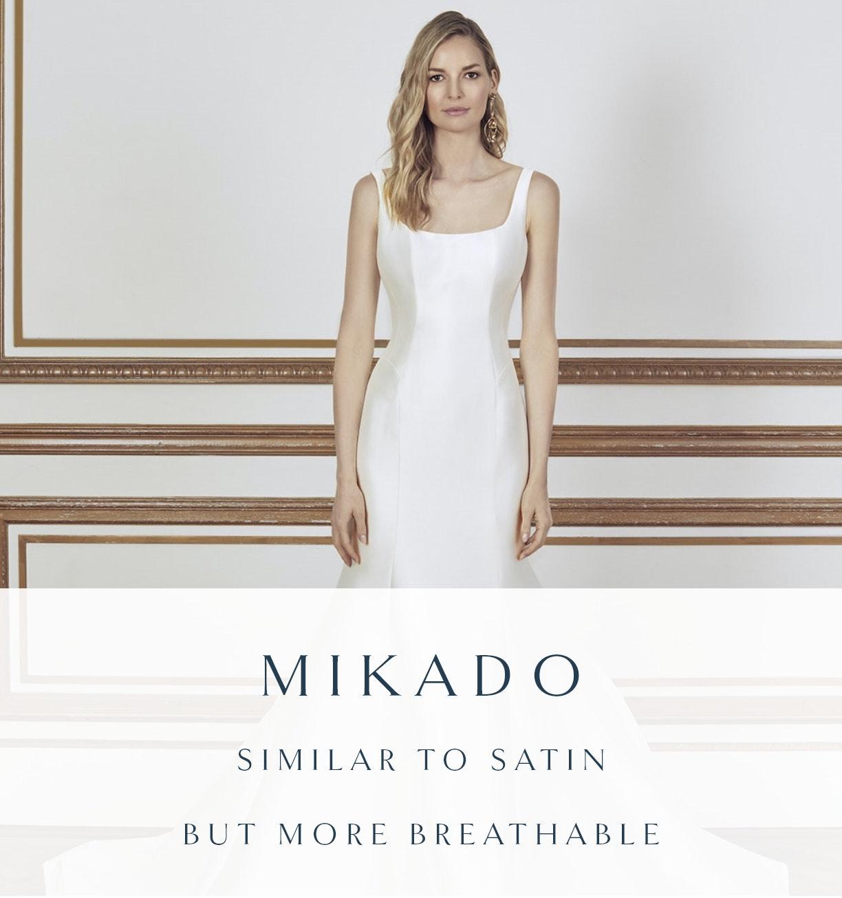 Mikado wedding dress fabric