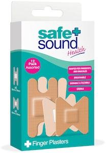 Safe + Sound Assorted Finger & Knuckle Plasters 12pk